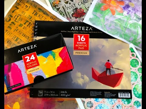 gel-printing-with-arteza-acrylic-paints---a-product-review