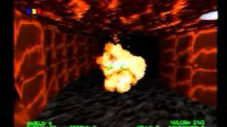 Descent Maximum (PS1) Link Cable Deathmatch Gameplay