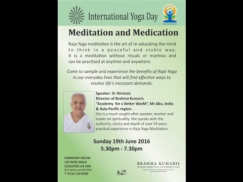 MEDITATION AND MEDICATION 19.06.16