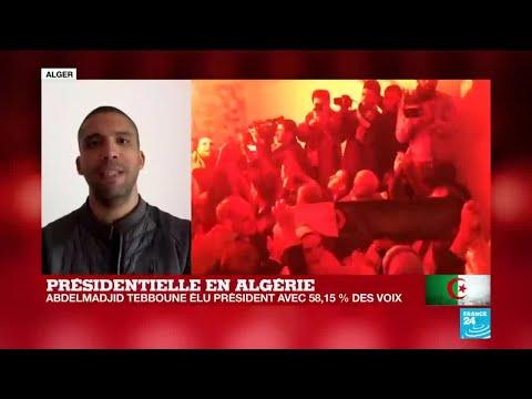 """Présidentielle en Algérie : """"Élection truquée, pas d'État militaire !"""", scande la rue"""