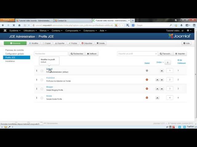 Joomla 3 - Ajouter et gérer ses liens avec JCE