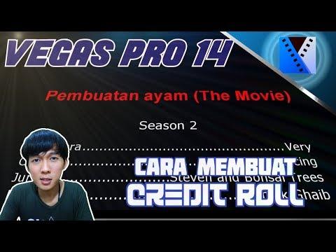 VEGAS PRO 14 - Cara Menambah Credit Roll atau Roll Akhir Video