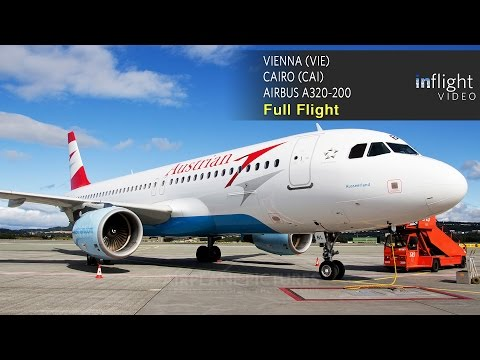 Austrian Airlines Full Flight | Vienna to Cairo | Airbus A320