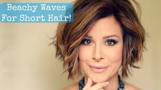One of Dominique Sachse's most viewed videos: Beachy Waves for Short Hair!