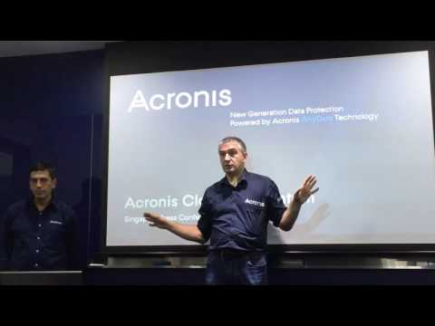 Acronis CEO Serguei Beloussov answers questions at Block chain Partner conference press event