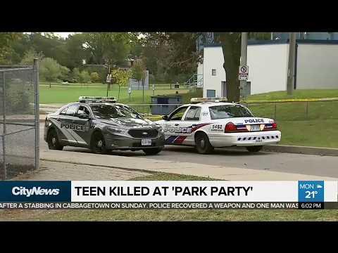 Friends hold memorial for teen slain in Toronto park