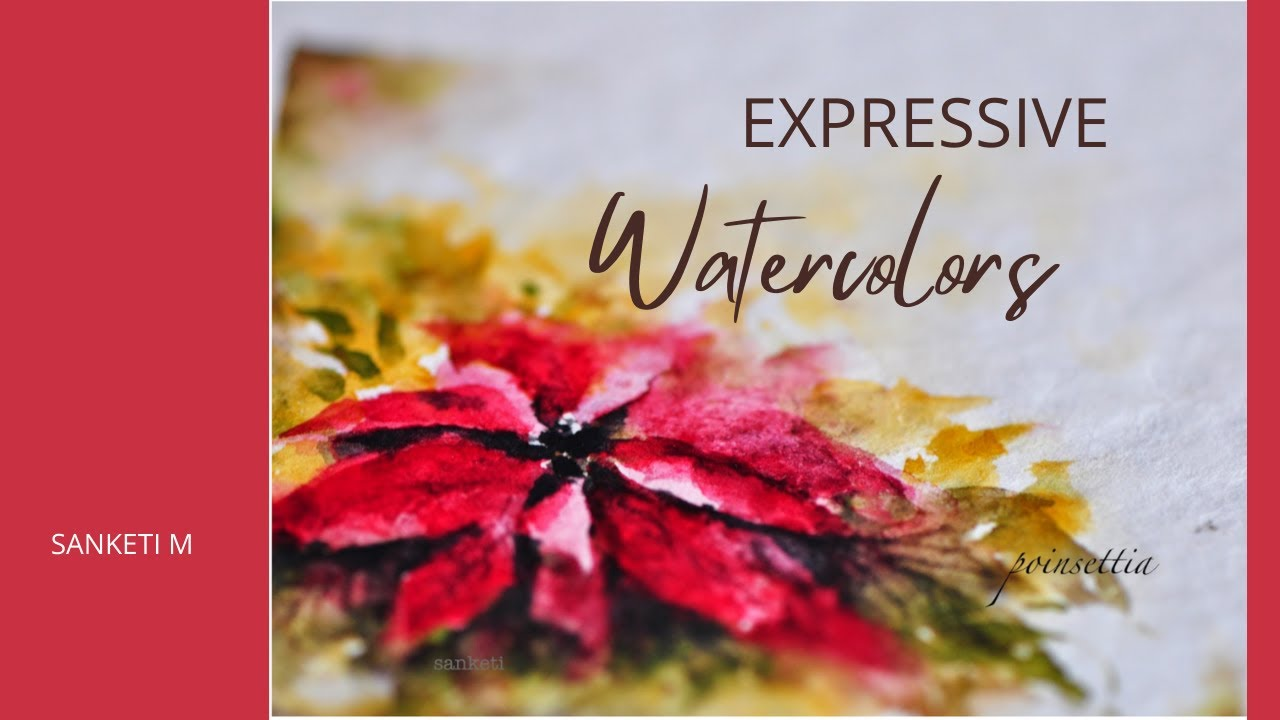 Watercolor Floral - Poinsettia - YouTube