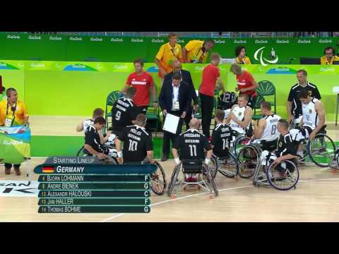 Wheelchair Basketball | Germany vs Islamic Republic of Iran | Men's preliminaries | Rio 2016