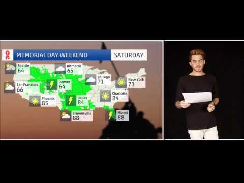 Adam Lambert's Weather Report for Memorial Weekend | A Dramatic Interview