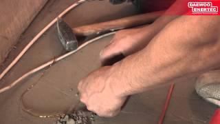 Монтаж кабельного теплого пола Daewoo Enertec в квартире