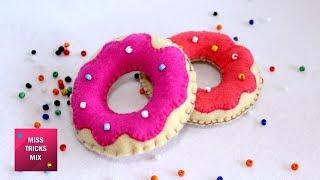 Sweet Felt Donuts - DIY : How to make Sweet Felt Donuts Plush / Felt Crafts - Kids Crafts.