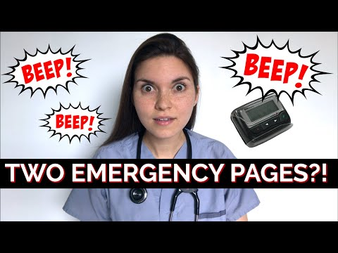 TWO EMERGENCY PAGES AT THE SAME TIME? Doctor Call Shift Question + Answer
