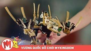 QUẢNG CÁO LEGO NINJAGO - Rồng vàng 70666, máy khoan chiến đấu của Cole 70669, tu viện 70670