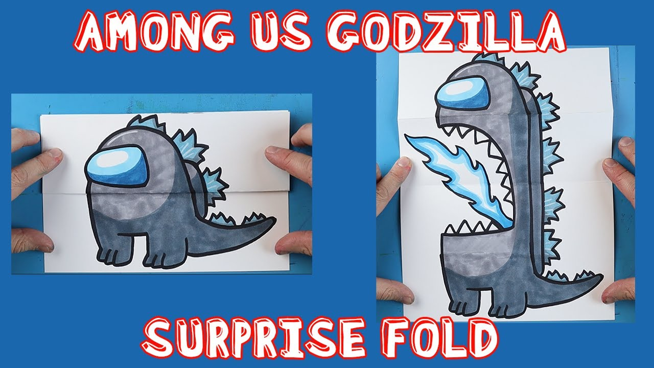 Download How to Draw an AMONG US GODZILLA SURPRISE FOLD!!!