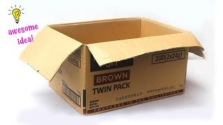 Easy Creative Idea with Cardboard Box! Amazing Cardboard Box Idea that You Can Make at Home!