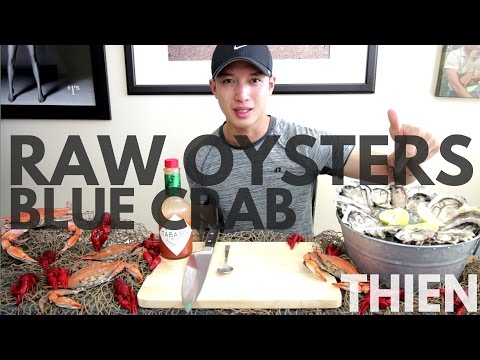 [mukbang with THIEN]: Atlantic (Chesapeake) Blue Crabs, Raw Oysters, and Crayfish