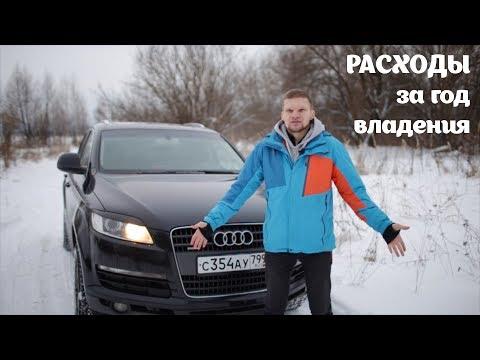 РАСХОДЫ за Год владения старым Audi Q7. Cчитаем деньги.