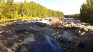 6 - я серия. Слав по реке Кереть. Северная Карелия. Выходим в Белое море.  travels
