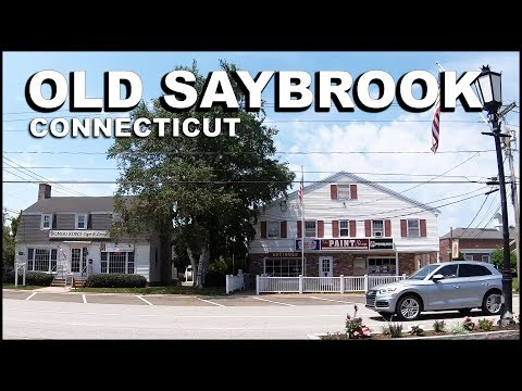OLD SAYBROOK Connecticut Downtown Driving Tour
