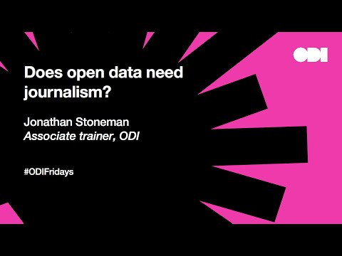 Friday lunchtime lecture: does open data need journalism?