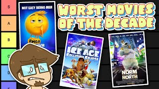 The WORST Animated Movies of the Decade Tier List