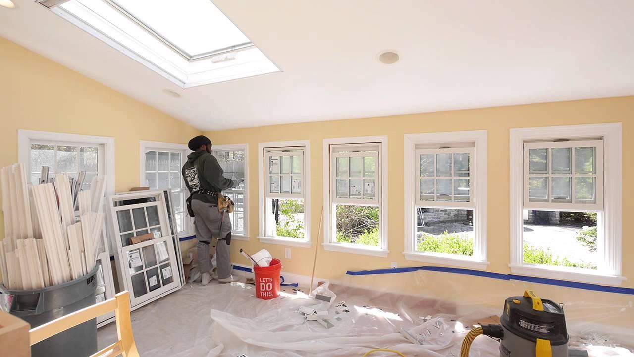 Sunroom Room Full Of Windows Installation By Renewal