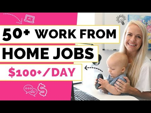 😍 50+ Work from Home Jobs ($100/Day)