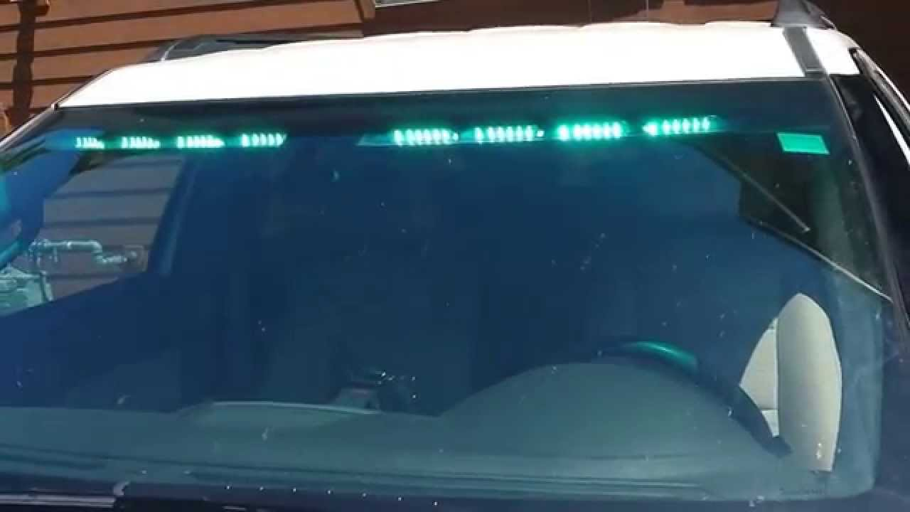 Lovely PRVS Install   SoundOff Signal NFORCE Interior Lightbar   YouTube