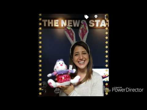 WNEP TV KRISTINA PAPA APPRECIATION DAY SURPRISED BY A EASTER BUNNY