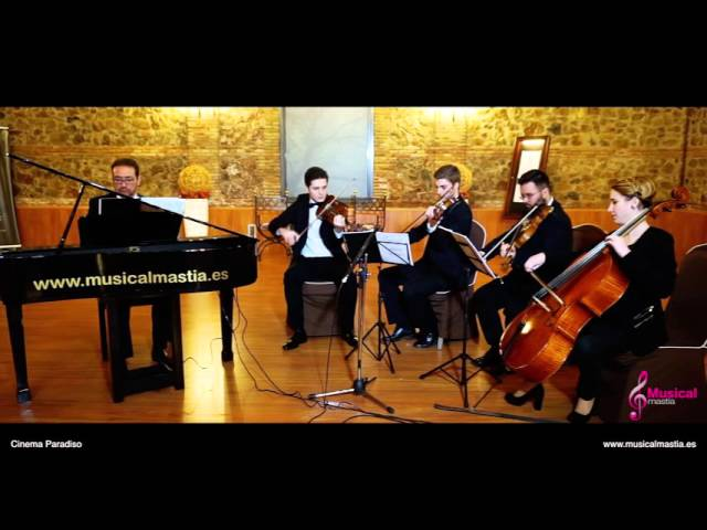 Cinema Paradiso Piano y cuarteto de cuerda Bodas Murcia Bodas Alicante Bodas Almeria