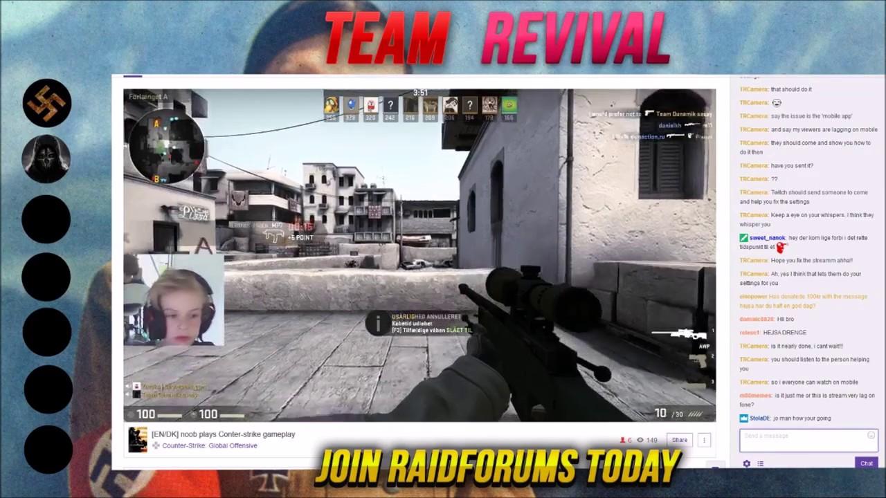 [TR] CS:GO kid's stream gets hijacked.