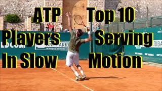Tennis Serve Slow Motion | Top 10 ATP Serves Slow Motion