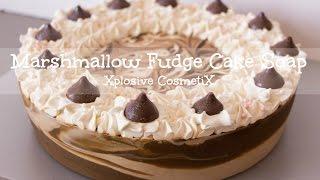 Making Marshmallow Fudge Cake Soap