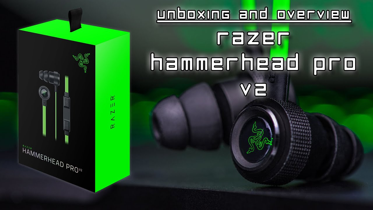 razer hammerhead pro v2 unboxing and brief overview razer patch and keychain youtube. Black Bedroom Furniture Sets. Home Design Ideas