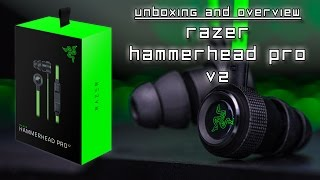 Razer Hammerhead Pro V2 - UNBOXING and BRIEF OVERVIEW + Razer Patch and Keychain!