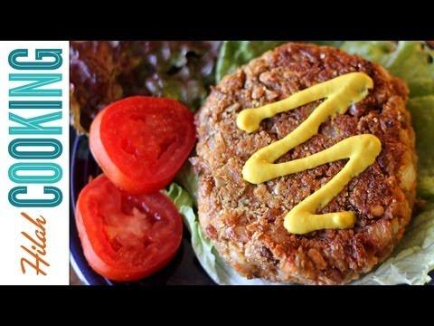Veggie Burger Recipe - Vegetarian Black Bean Burger | Hilah Cooking