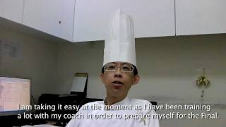 Watch Chris Cheng from Taiwan prepare for the World Chocolate Masters Final 2011