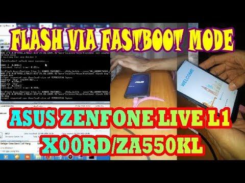 Flash Asus Zenfone Live #X00RD/ZA550KL Via Fastboot Kasus Lupa Pola By didy_bukit