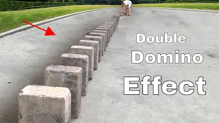 Double Domino Effect With 30 Huge Bricks—How Does it Work?