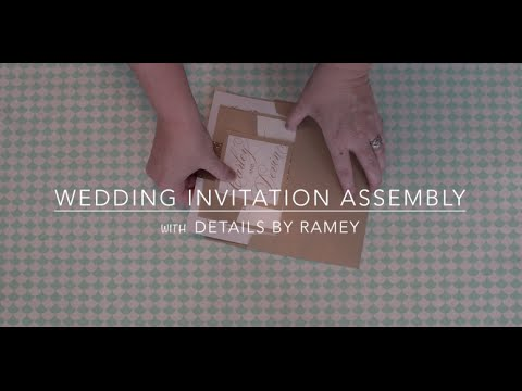 How To Assemble A Wedding Invitation Youtube