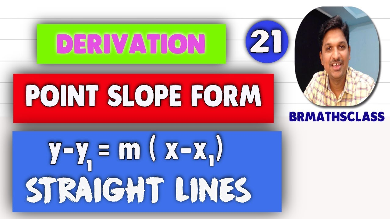 point slope form derivation  POINT SLOPE FORM DERIVATION || HOW TO FIND EQUATION OF A ...