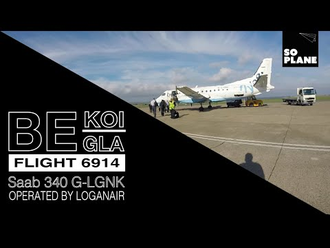 TRIP REPORT   Flybe by Loganair   Saab 340   Kirkwall Orkney to Glasgow   Full Flight