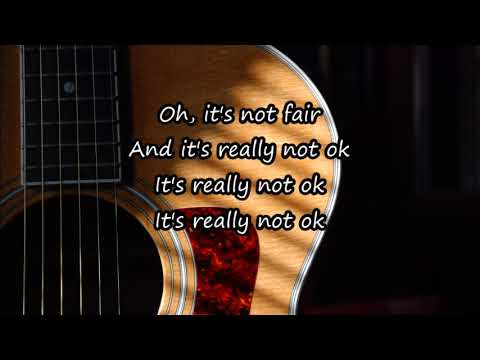 Lily Allen - Not Fair (Acoustic Guitar Karaoke)