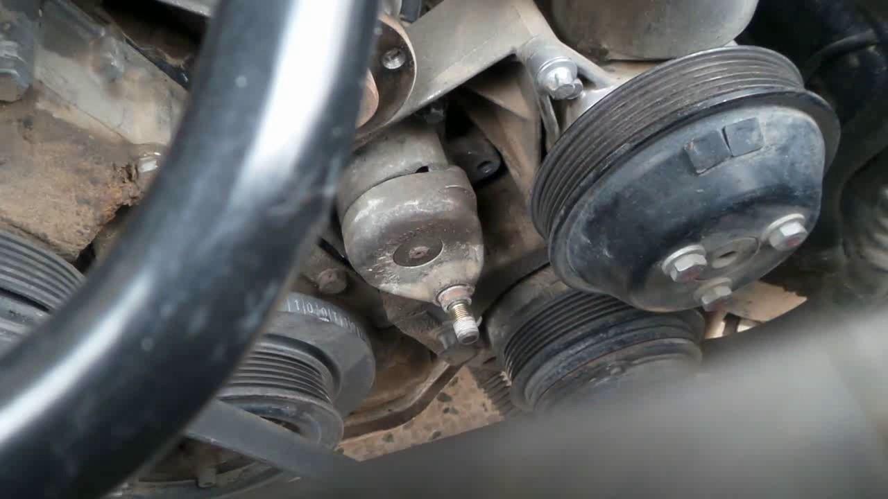 benz w140 s320 1998 belt tensioner replacement [ 1280 x 720 Pixel ]
