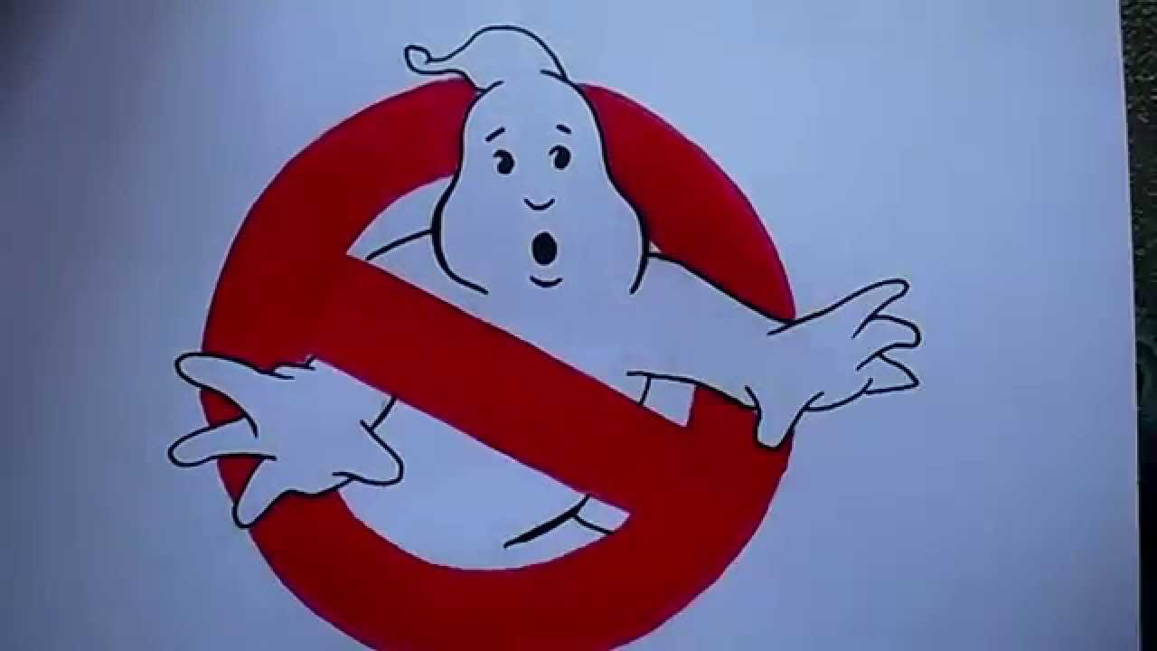 How To Draw The Ghostbusters Logo - YouTube