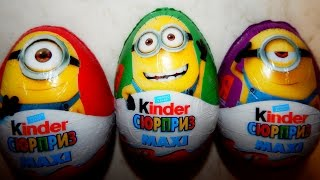 Minions 3 Kinder Surprise MAXI unboxing,  Despicable Me Kinder Surprises