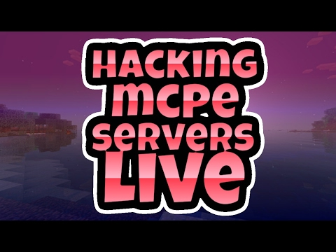 LIVE HACKING IN MCPE SERVERS WITH FANS