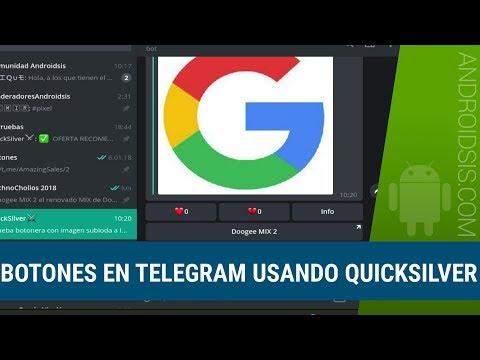 Tutoriales Telegram: Cómo crear mensajes con botones usando Quicksilver