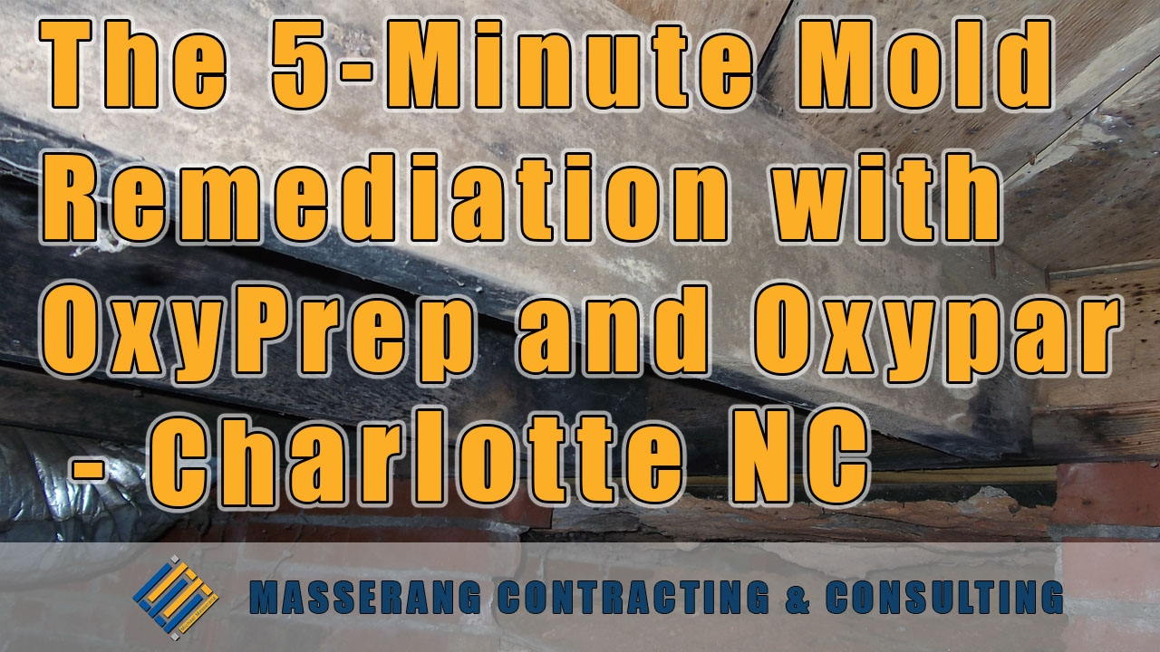 the 5minute mold remediation with oxyprep and oxypar charlotte nc