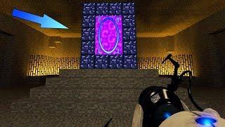 Портал в Портал - Парадокс! - Майнкрафт Карта в Portal 2